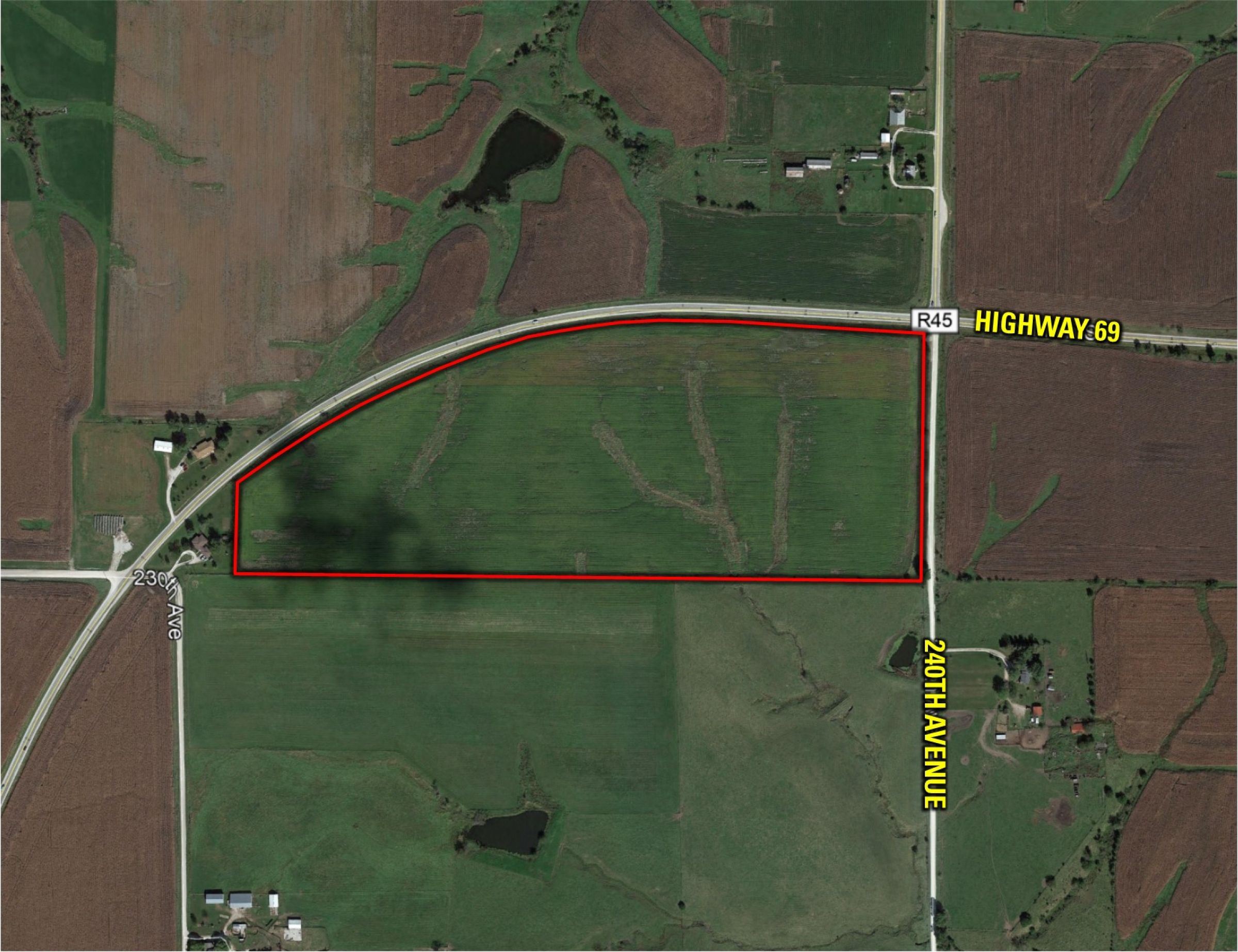 Peoples Company Land For Sale-Clarke County Iowa-Auction - 240th Ave. Osceola, IA 50213