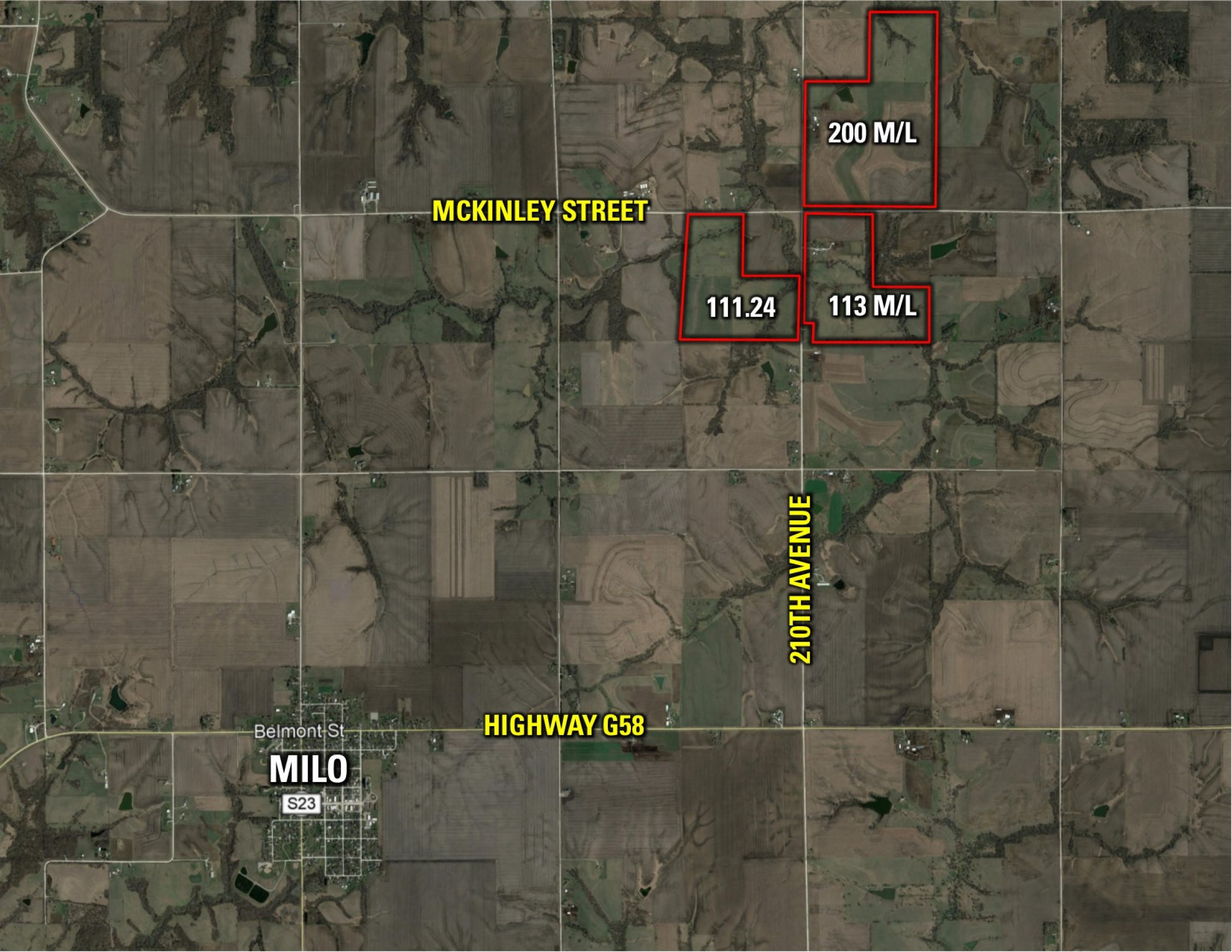 Peoples Company land for sale in Warren County IA_McKinley St. Milo,IA 50166