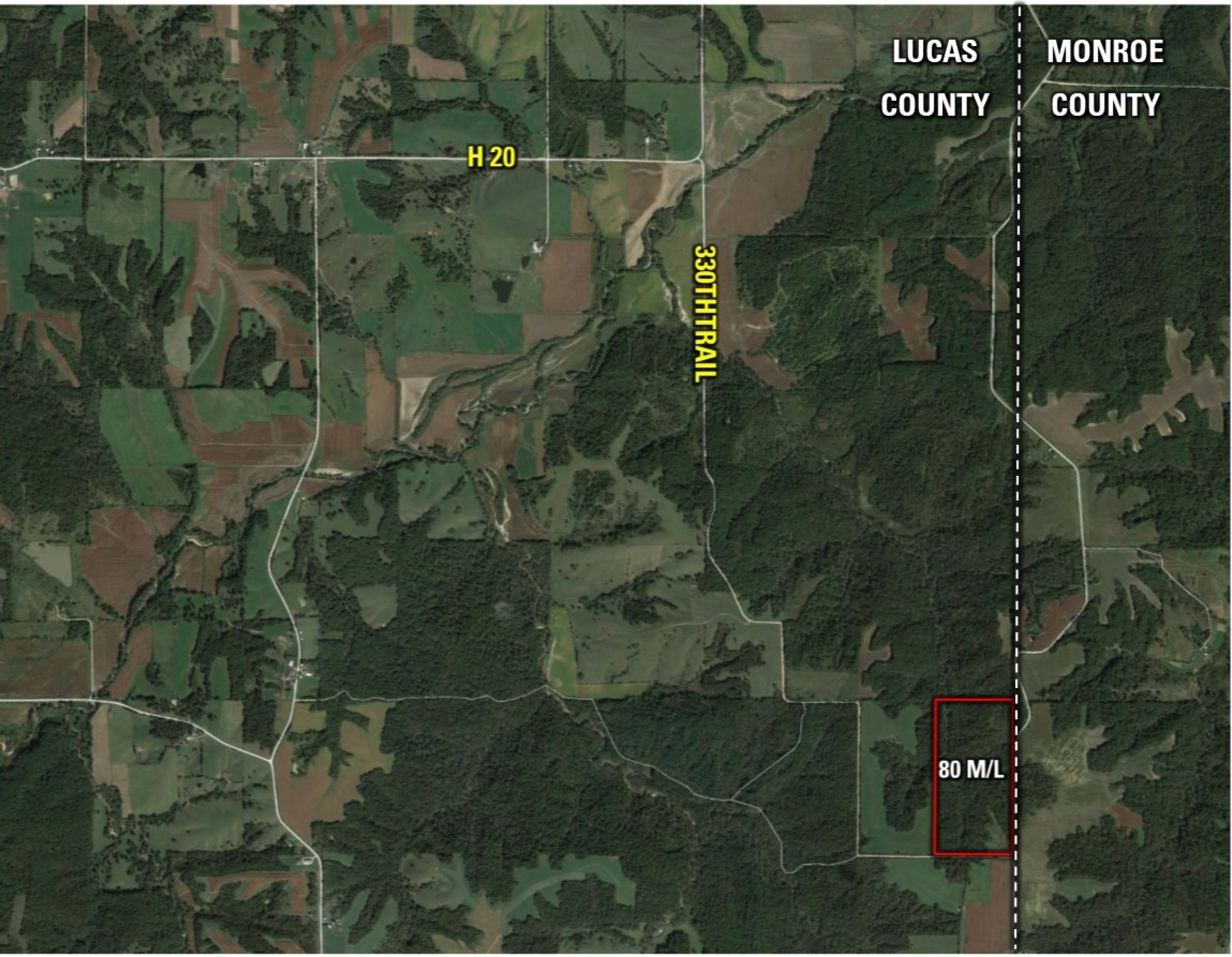 Peoples Company Land for Sale in Lucas County, IA - 540th Ln Russell, IA 50238