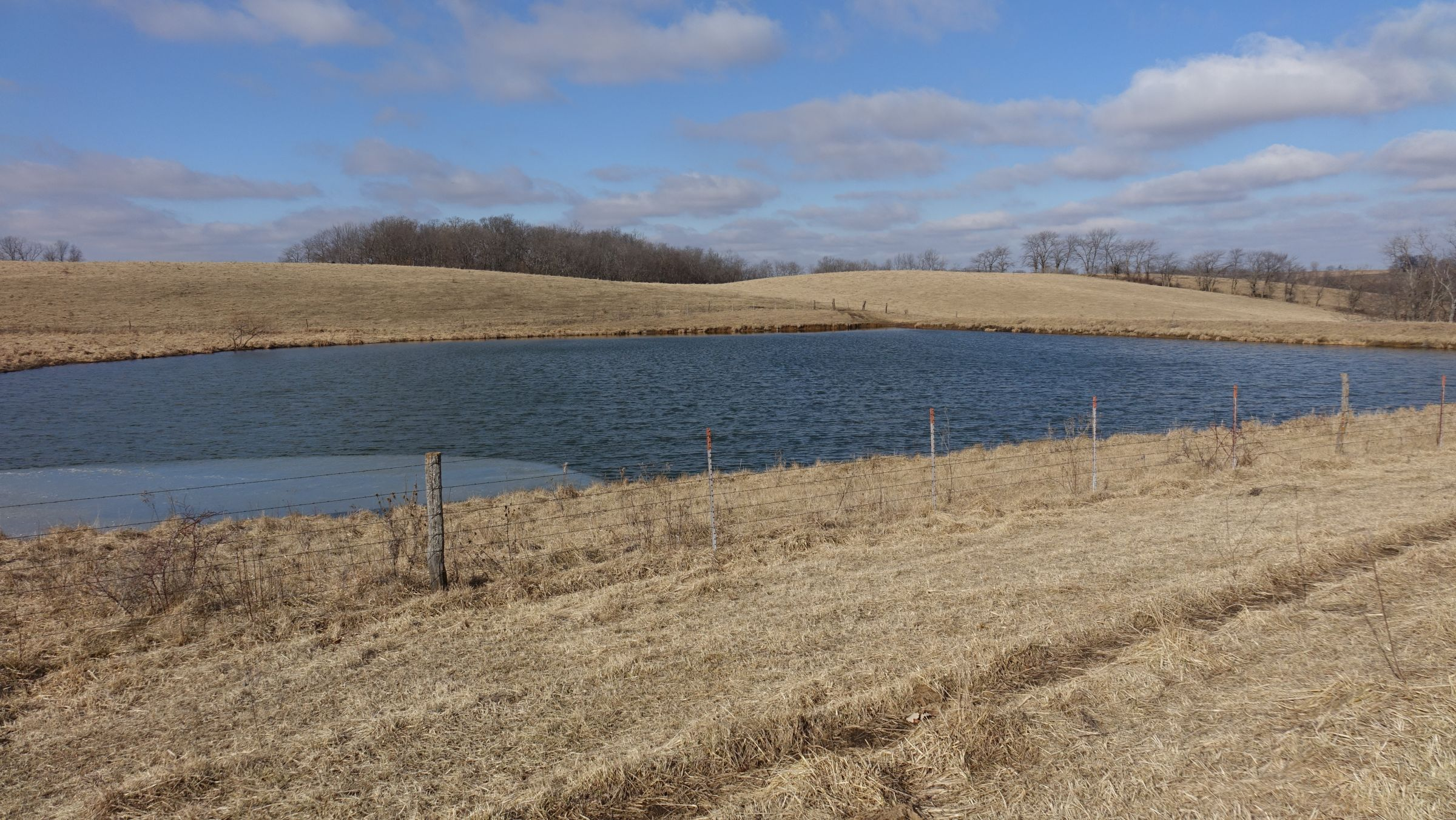 Large pond looking northwest