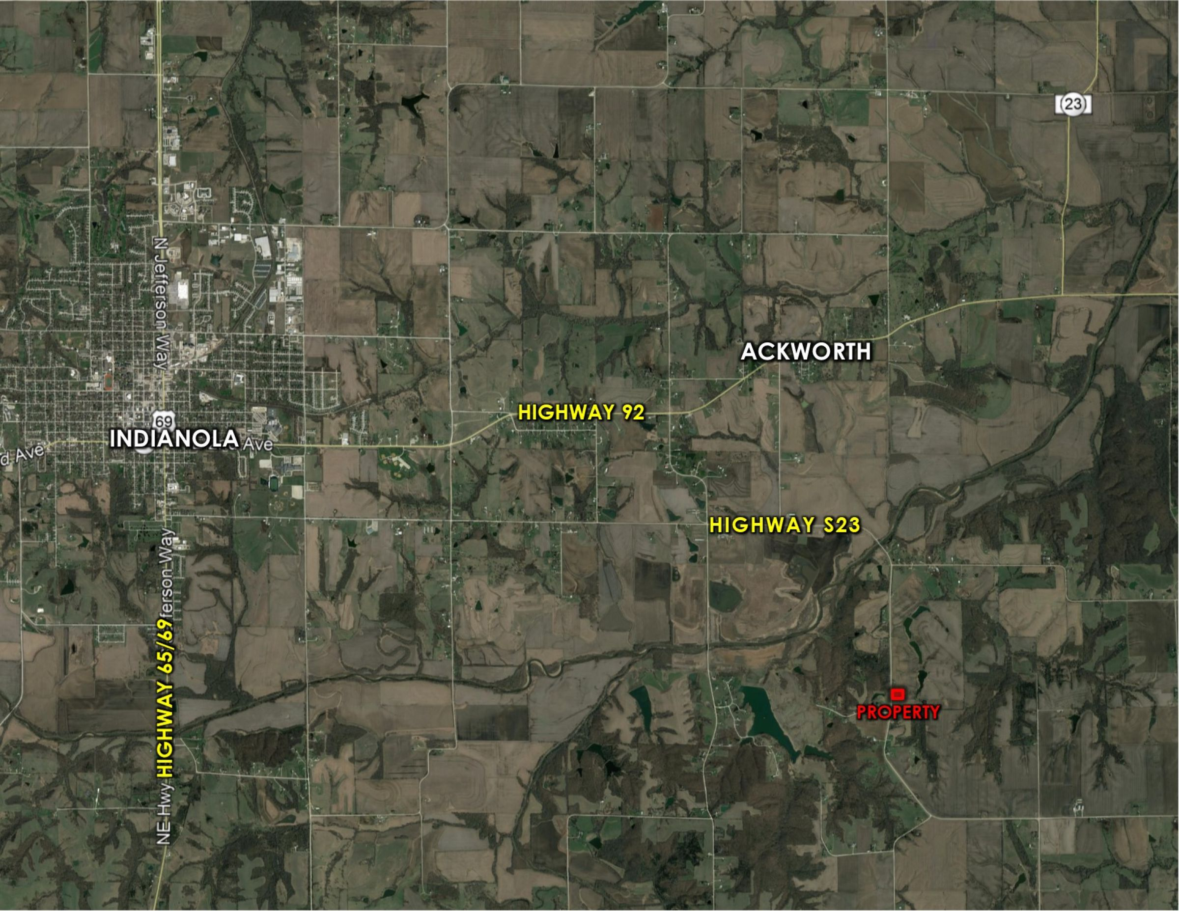 Peoples Company Land for Sale - Warren County, Iowa - #14509-000-s23-Highway-milo-50125