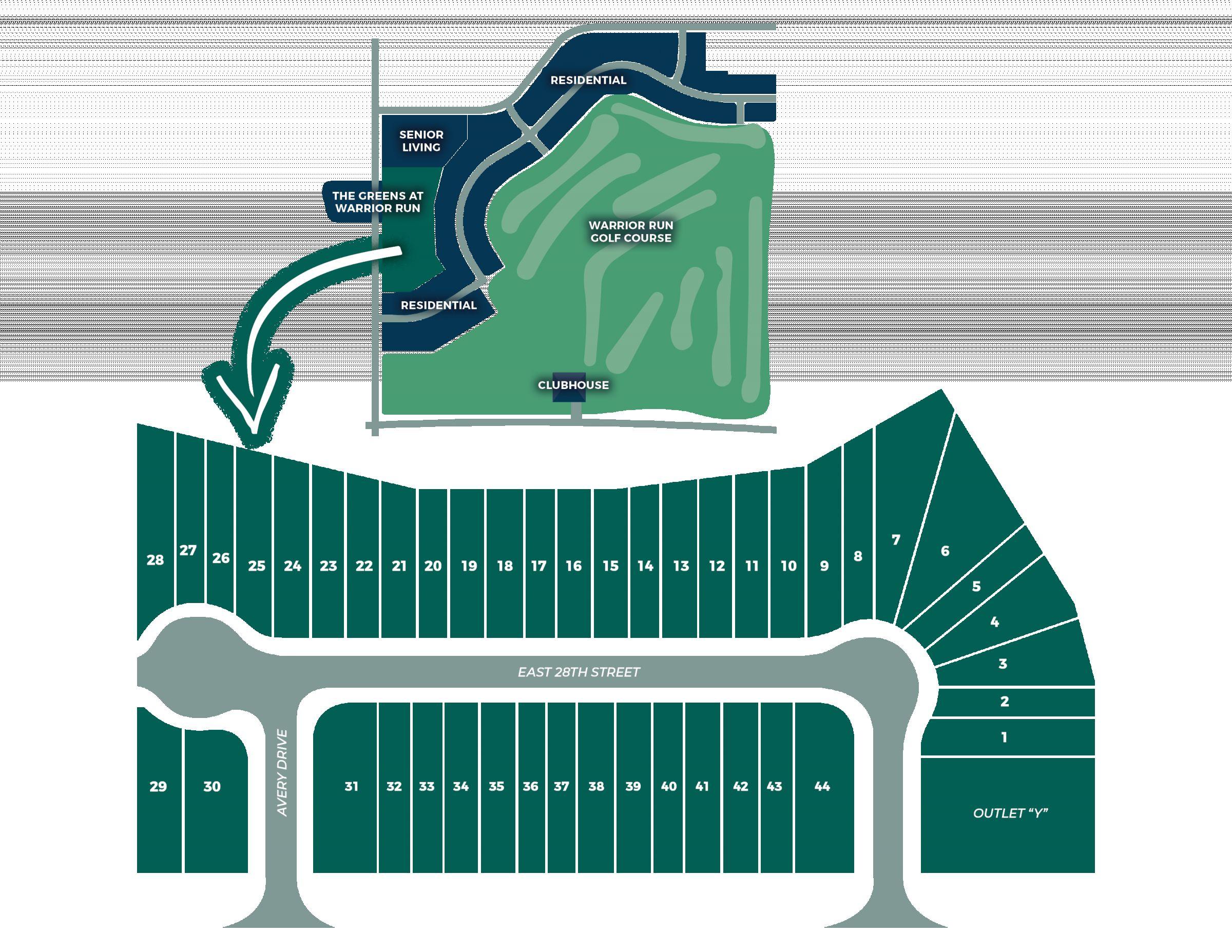 The Greens At Warrior Run Plat Map