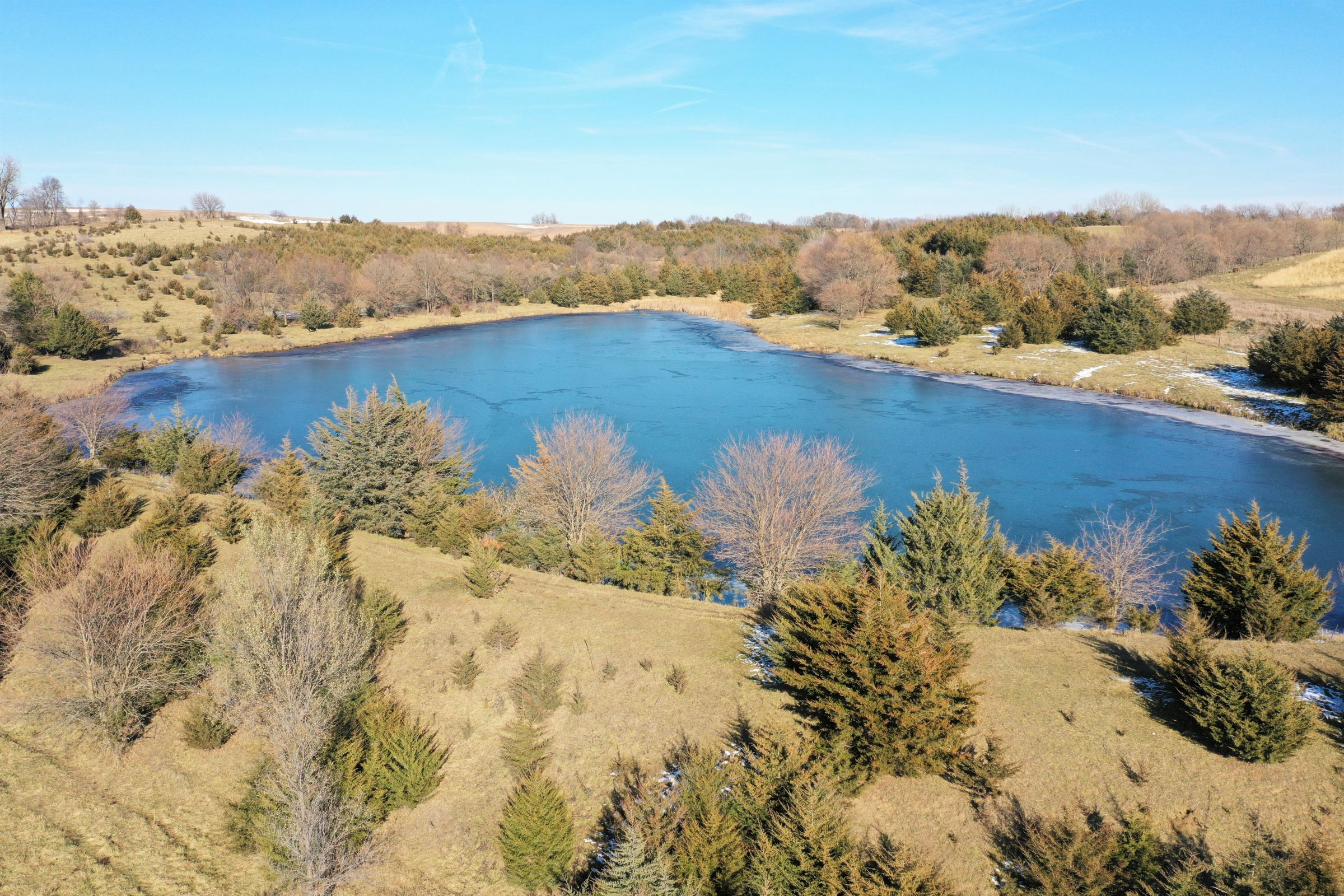 NRCS Designed 4-Surface-Acre Pond in Guthrie Center, Iowa