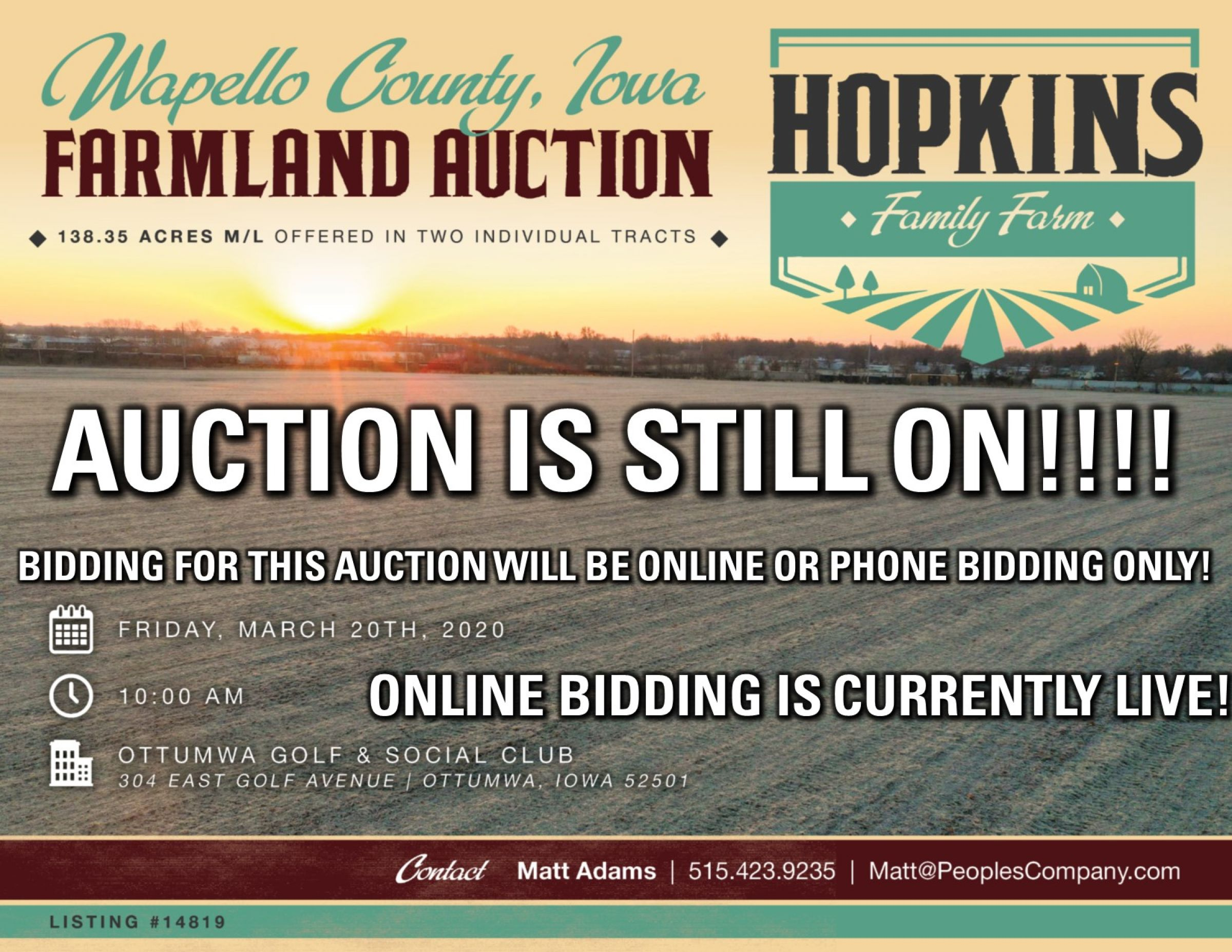Auction Updates