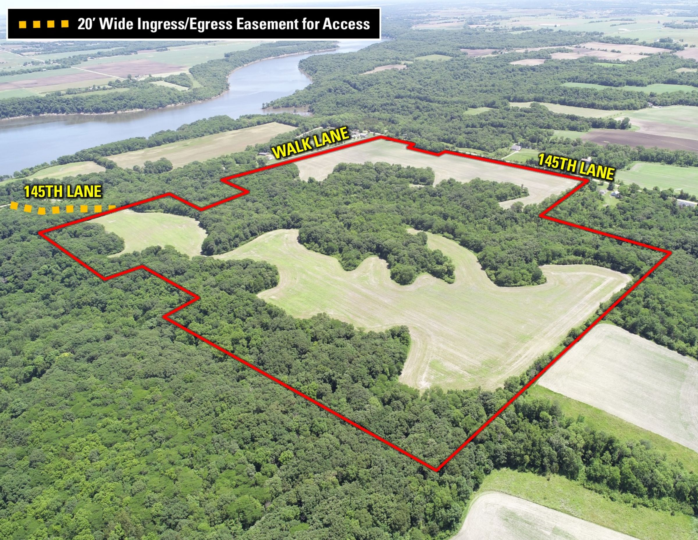 NW With Easement Map