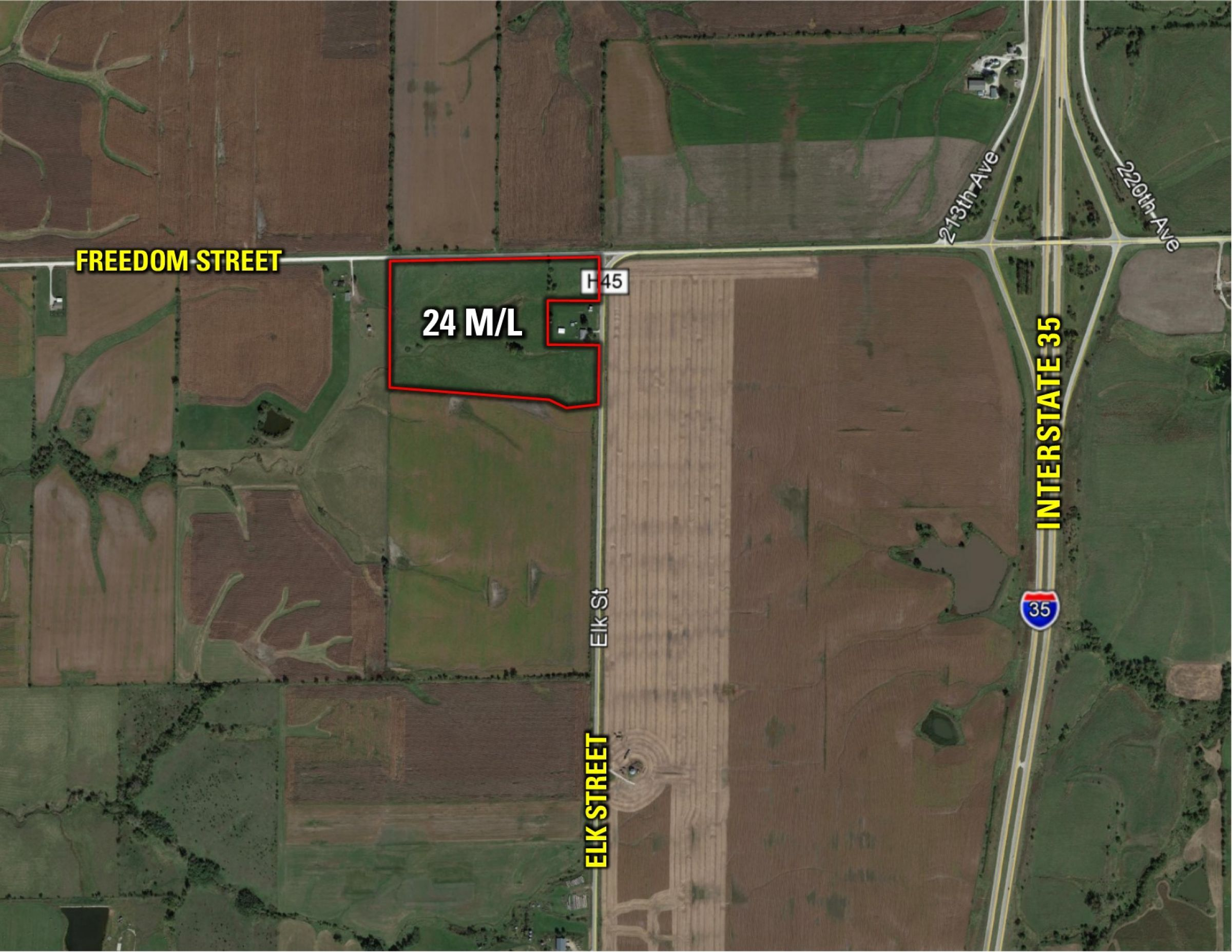PeoplesCompany-Farmland Auction in Clarke County IA-Elk Street Osceolad